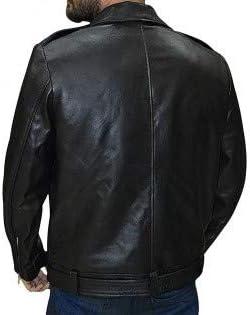 Arrivals Negan Walking Dead S7 Jeffrey Dean Morgan Black Biker Faux Leather Jacket