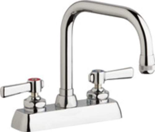Chicago Faucet W4D-DB6AE1-369ABCP Deck Mount Workboard faucet with 6-1//4 Double Bend Spout 4