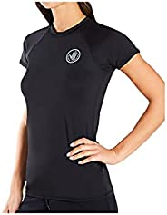 Body Glove Women's Smoothies in-Motion Solid Short Sleeve Rashguard with UPF 50+
