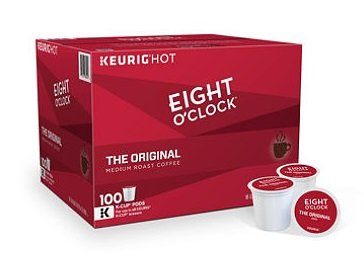 Eight O'Clock The Original Coffee K-Cup Pods, (100 ct.) by Green Mountain Coffee