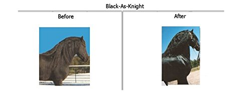 Black-As-Knight Coat Enhancer for Blacks and Bay Horses 7 LBS by Black-As-Knight (Image #1)