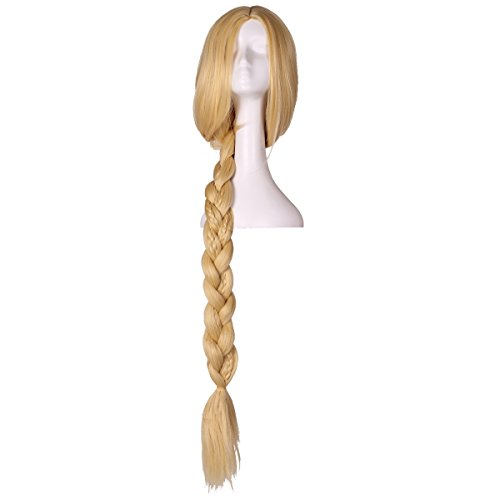 ColorGround Super Long Blonde Braided Cosplay wig -