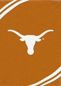 "Texas Longhorns Royal Plush Raschel Twin Throw Blanket 60"" x 80"""