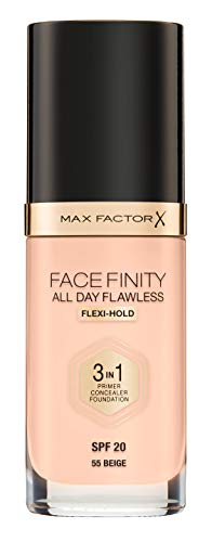 Max Factor Facefinity All Day Flawless 3 In 1 Foundation SPF 20, No. 55 Beige