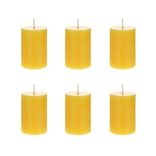 Mega Candles 6 pcs Citronella Round Pillar Candle | Hand Poured Paraffin Wax Candles 2
