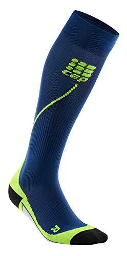 CEP Men's Running Compression Socks Athletic Long 2.0 (Deep Ocean/Green) III