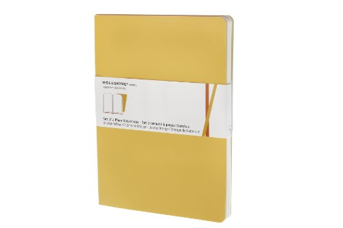 Volant Collection (Moleskine Volant Notebook (Set of 2 ), Extra Large, Plain, Orange Yellow, Cadmium Orange, Soft Cover (7.5 x)