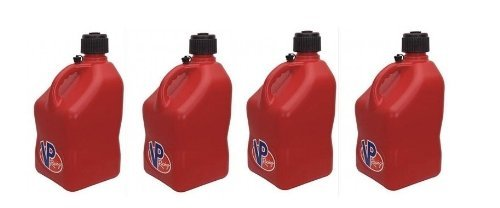 (4 Pack VP 5 Gallon Square Red Racing Utility Jugs)
