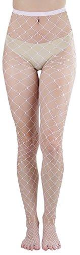 (ToBeInStyle Women's Diamond Net Spandex Pantyhose - BABY PINK - OSR)