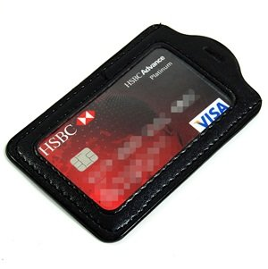 Cosmos Black Leather Business Holder