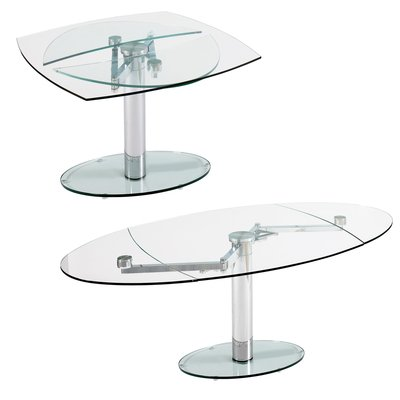 luca glass extending dining table clear amazon co uk kitchen home rh amazon co uk