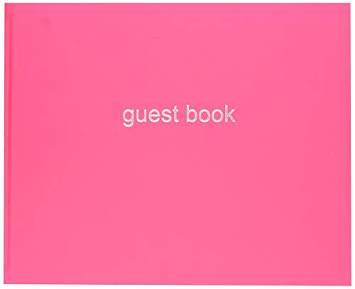 Letts 090015P Dazzle Quarto Landscape Guest Book - Pink by Letts