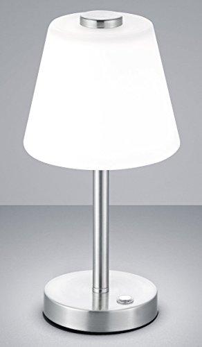 Trio Leuchten Lámpara de Mesa Integriert, 4 W, Níquel Mate, 15 x 15 x 29 cm