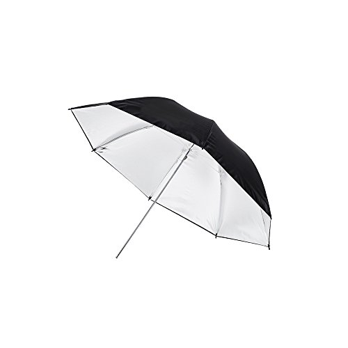 Fovitec - 1x 40 inch Silver Photography & Video Reflector Umbrella - [Easy Set-up][Lightweight][Cast-Iron][Collapsible][Durable Nylon] by Fovitec