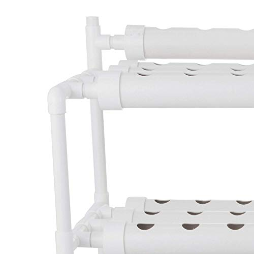 DreamJoy Hydroponic Grow Kit 90 Sites 10 Pipe NFT PVC Hydroponic Pipe Home Balcony Garden Grow Kit Hydroponic Soilless Plant Growing Systems Vegetable Planting Grow Kit (90Site 10Pipe)