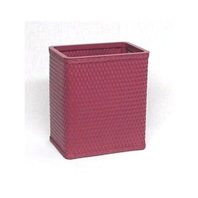 Redmon Chelsea Collection Decorator Color Square Wicker Wastebasket S426SG