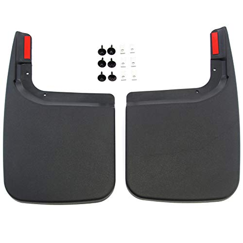 Red Hound Auto Compatible With Ford 2017 2019 F 250 F 350 Super Duty Mud Flaps Splash Guards Rear Molded 2pc Pair For Vehicles Without Fender Flares