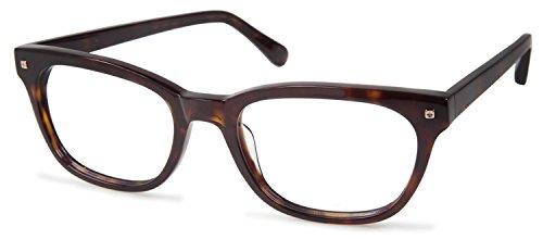 Cynthia RowleyNo. 20 Dark Tortoise Square Plastic Eyeglasses (Rowley Squares)