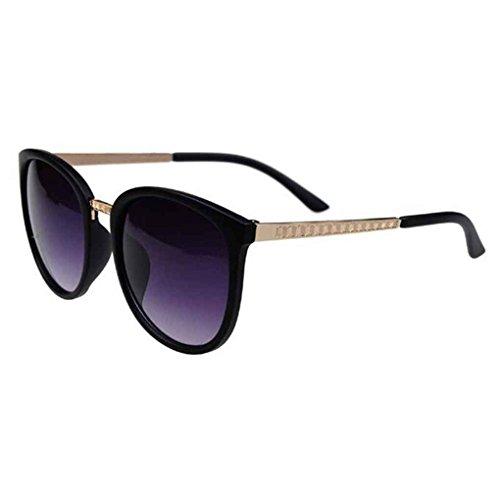 sol lentes de las retro ordenador Gafas de gafas de moda de de resina de metal Mengonee sol protección marco mujeres 2 UV400 las wqTEAOcx