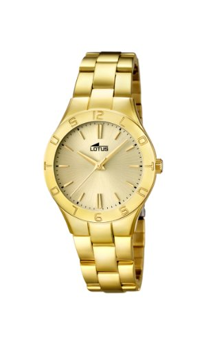 Lady's Watch - Lotus - Gold Platted Band and Dial - 15897/2