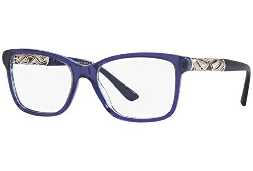 Bvlgari Women's BV4125B Eyeglasses Blue / Striped Violet Transparent - Eyewear Bulgari