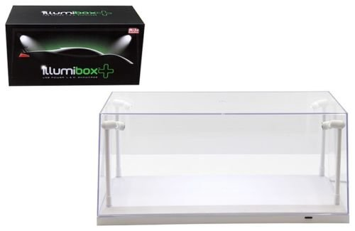 Illumibox 14005 Collectible Display Show Case with LED Lights for 1/18 1/24 Models with White Base
