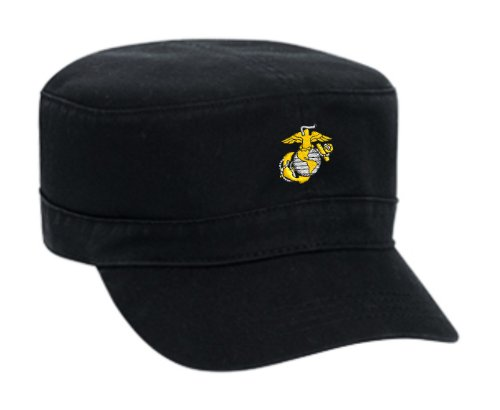 United States Marine Corps Embroidered Military Style Cap - Black 2cc9250305cd