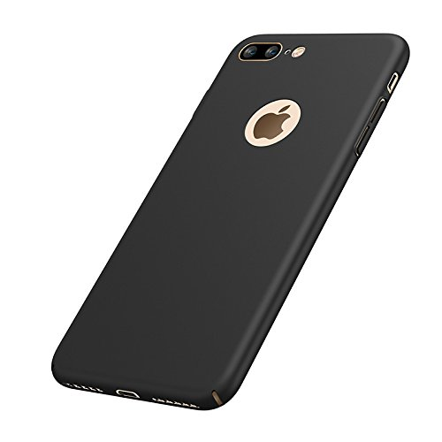 Price comparison product image iphone 7 Plus Case, AICOO YCL Ultrathin Micro Matte [SKIN TOUCH FEEL] Anti-Fingerprints Shockproof Non-slip PC Phone Case Cover For iphone7 Plus 5.5 inch, A1 Black