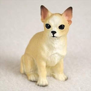 Chihuahua Tan And White Dog Figurine, Height Approx. 2 Inches
