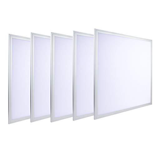 (LUMINOSUM, LED Troffer 2x2 Ft Edge-Lit Panel, 36W (80W Equivalent), Cool White 6000k, 3240lm, Office Lighting, 5-pack)