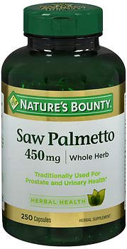Nature's Bounty Saw Palmetto 450 mg Capsules 250 ea (Pack of 5)