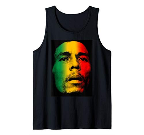 (Marley Rasta Face T-Shirt for Bob Lover Tank Top)
