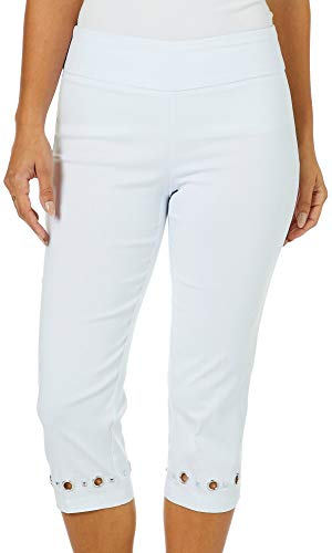 Zac & Rachel Plus Grommet Hem Pull On Capris 18W Optic for sale  Delivered anywhere in USA
