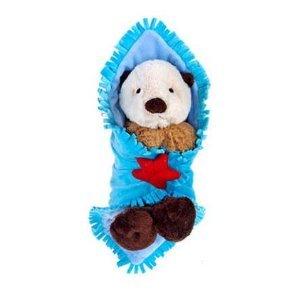 amazon com 11 baby sea otter with blanket plush stuffed animal toy
