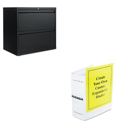 KITALELF3029BLLEO61605 - Value Kit - Charles Leonard Varicap6 Expandable 1- 6 Post Binder (LEO61605) and Best Two-Drawer Lateral File Cabinet (ALELF3029BL) by Charles Leonard
