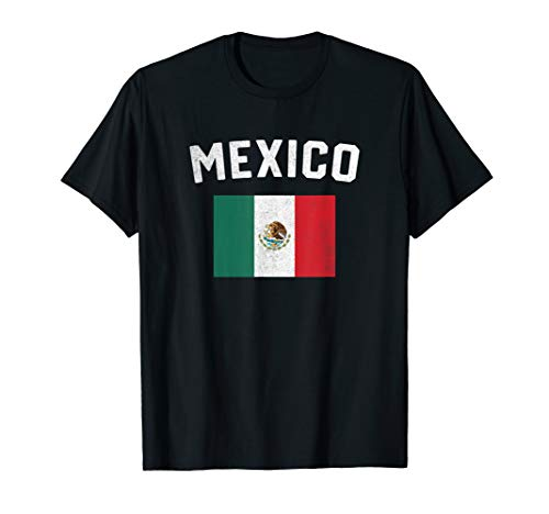 I Love Mexico Minimalist Mexican Flag - T-shirt Mexico Flag