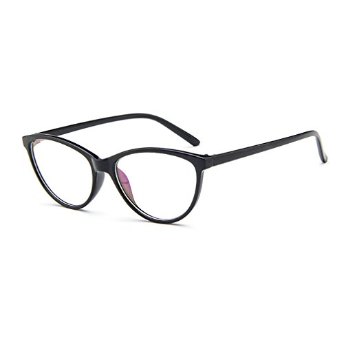 LOMOL Europe and America Retro Personality Transparent Lens Cateyes Frame Glasses For - Replacements Ons Sunglass Clip Magnetic