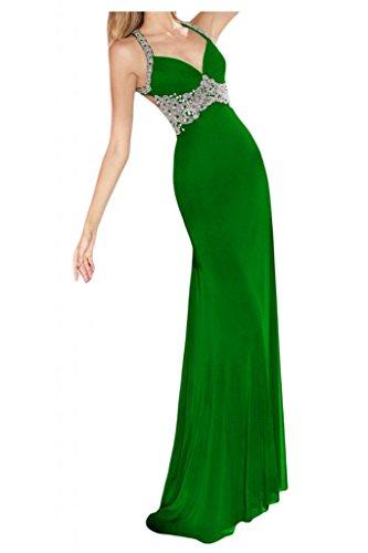 Toscana sposa Glamour Mermaid Chiffon Rueckenfrei stanotte vestimento lunga un'ampia Party ball vestimento verde 40