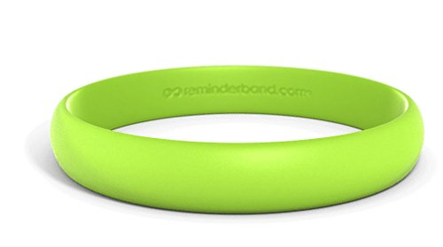 Reminderband Custom Contour Silicone Wristbands (Lime Green, Large)