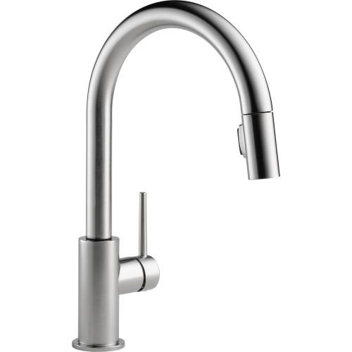 Delta 9159-AR-DST Trinsic Single-Handle Pull-Down Kitchen Faucet with Magnetic Docking Spray Head, Arctic Stainless