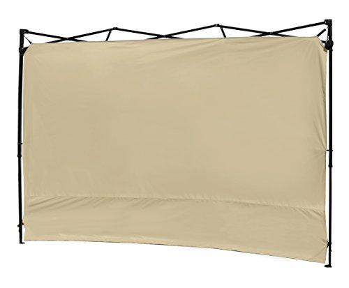 (XGEAR Instant Canopy Side Wall Sunwall for 10x10 Feet Straight Leg Pop UP Canopy, 1 Pack Sidewall Only, Beige)