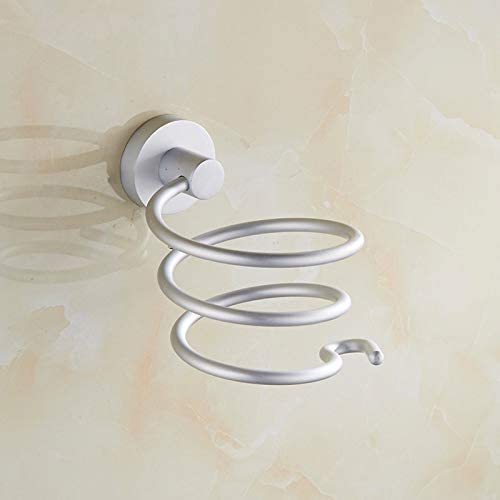 Wall Mounted Hair Dryer Rack Aluminum Holder Storage Shelf Organizer for Bathroom Artwarm Hair Dryer Holder