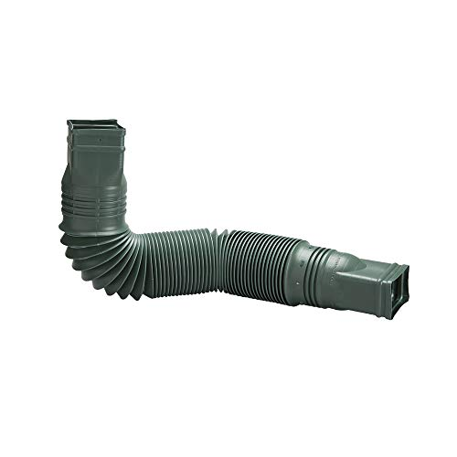 Flex-Drain 85011 Downspout Extension, Green