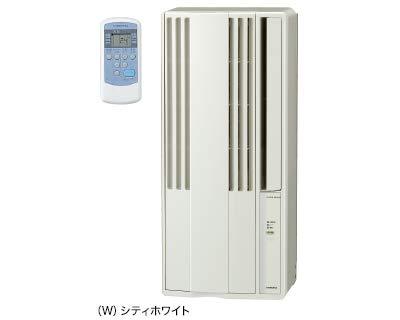 코로나 : 냉방 전용 창문 용 에어컨 (시티 화이트) 공사 불필요 바로 사용할 수있는 창문 용 에어컨 100V / CW-1819-W