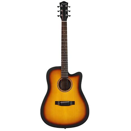 Donner Cutaway Sunburst Acoustic Guitar Package DAG-1S Beginner Guitar Kit With Bag Tuner Strap String Picks