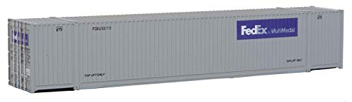 Walthers Trainline 53' Singamas Corrugated Container FedEx Multimodal - Assembled Train Collectable Train