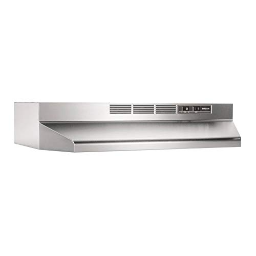 Broan 413004 Stainless Steel Ductless Range Hood Insert with Light, Exhaust Fan, Under Cabinet, 30-Inches (Best Under Cabinet Range Hood Reviews)