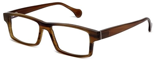 s Buffalo Horn Designer Reading Glasses CEBH119 in Tan Horn +1.50 (Buffalo Horn Frames)