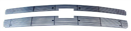 MaxMate 07-13 Chevy Silverado 1500 Bolton Upper 2PC Horizontal Billet Polished Aluminum Grille Grill Insert