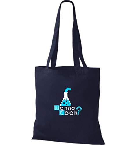 Azul Algodón Shirtstown Bolso De Para Mujer Tela Marino xYpSFwAq6p